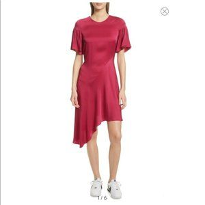 A.L.C. Tilly Asymmetrical Dress in Berry Pink NWT